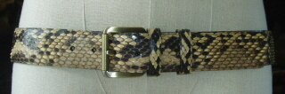 BWSe Natural Colour Python Snakeskin Belt 42mm  43 inches
