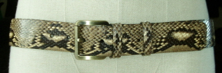 SBWc Natural Colour Python Snakeskin Belt 42 mm  44 inches